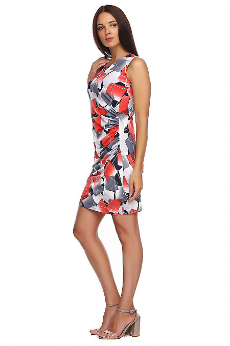 Купить платье из масла с драпировкой сбоку. Деловая женская одежда фото