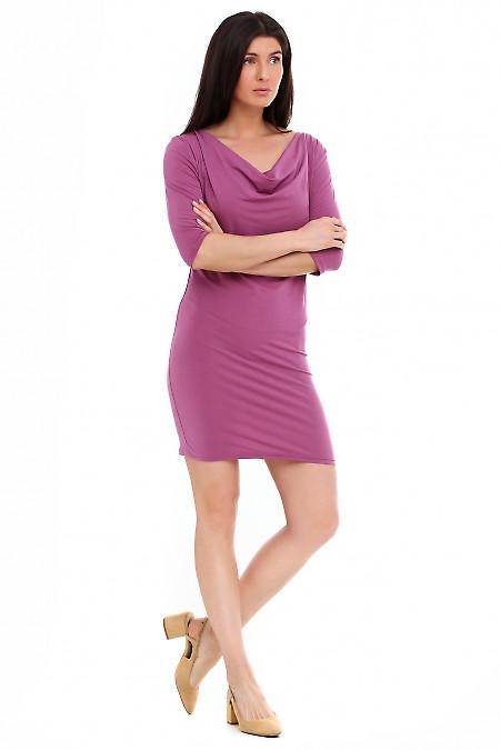 Платье с качелькой розовое.Деловая женская одежда фото