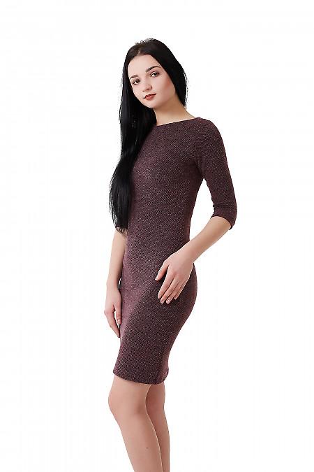 Сиреневое женское платье из трикотажа
