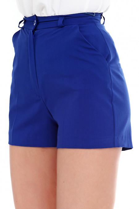 Купить шорты короткие электрик. Деловая женская одежда фото