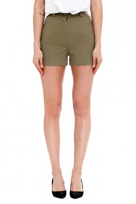 Шорты короткие зеленые. Деловая женская одежда фото