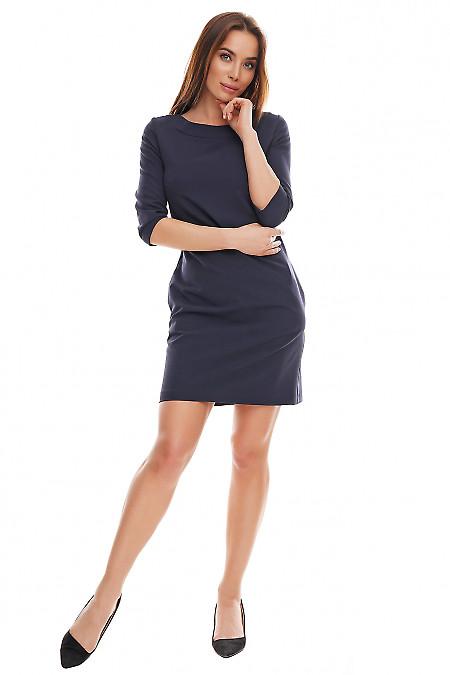 Синее платье в офис
