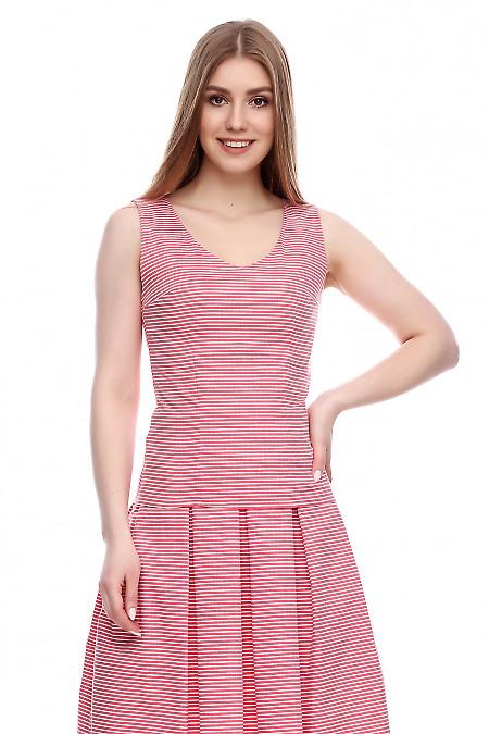 Топ в красную полоску Деловая женская одежда фото