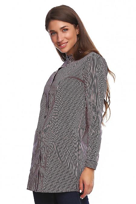 Купить льняную тунику. Деловая женская одежда фото
