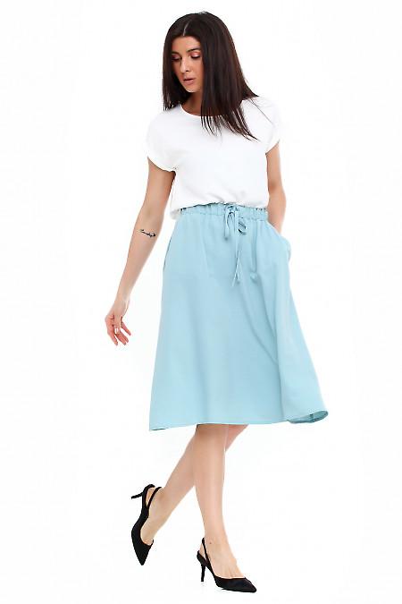 Купить летнюю юбку на резинке Деловая женская одежда фото