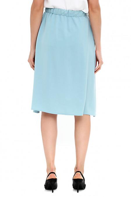 Голубая юбка из костюмной ткани