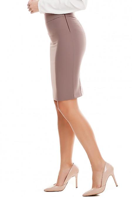 Деловая юбка цвета хаки