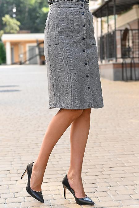 Серая юбка трапеция фото