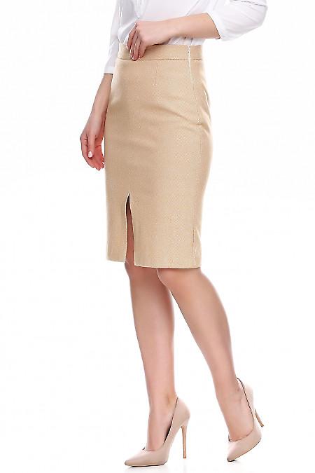 Теплая женская юбка в елочку