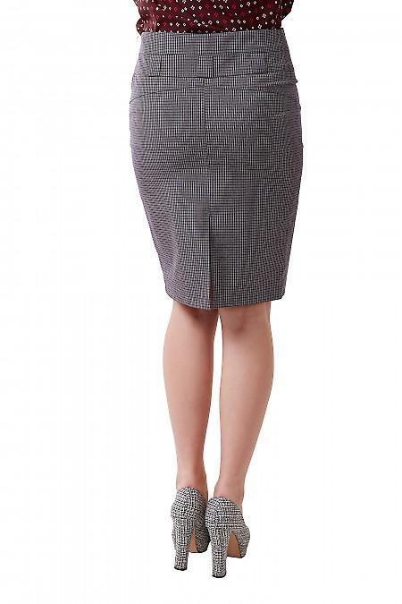 Классическая прямая юбка с костюмной ткани