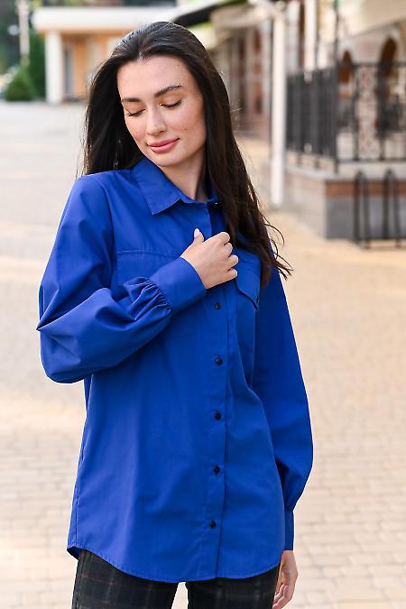 Женская блуза цвета электрик