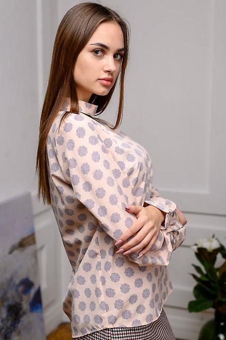 Праздничная розовая блуза
