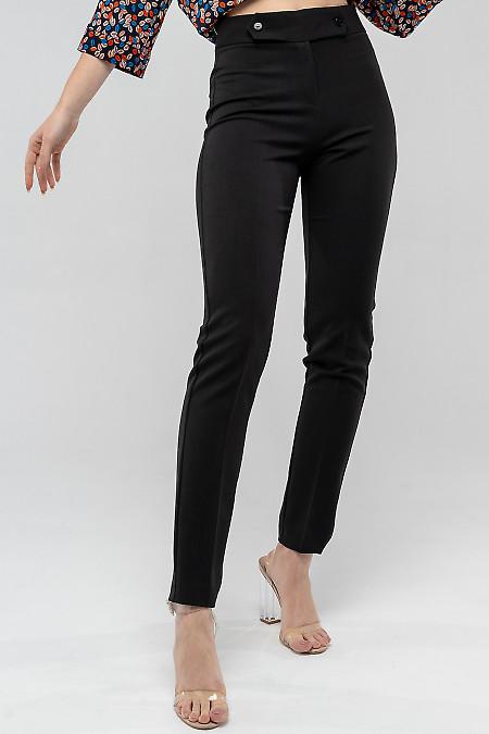 Черные брюки из костюмной ткани