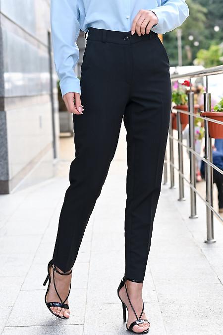 Брюки чёрные укорочённые. Деловая женская одежда