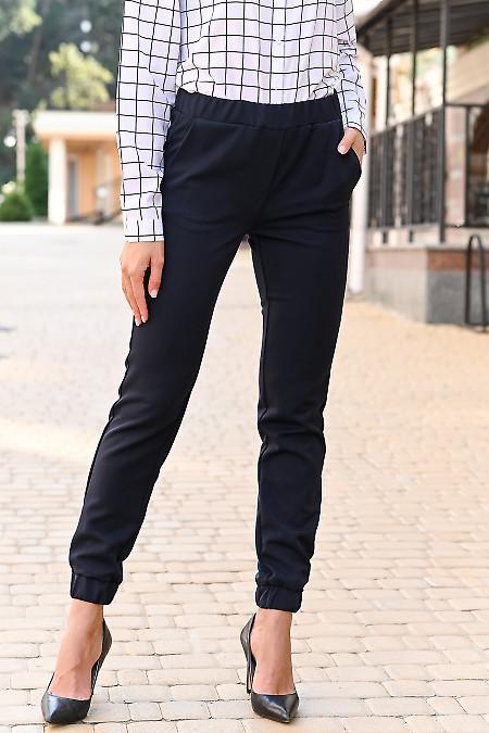 Синие брюки джогеры женские фото
