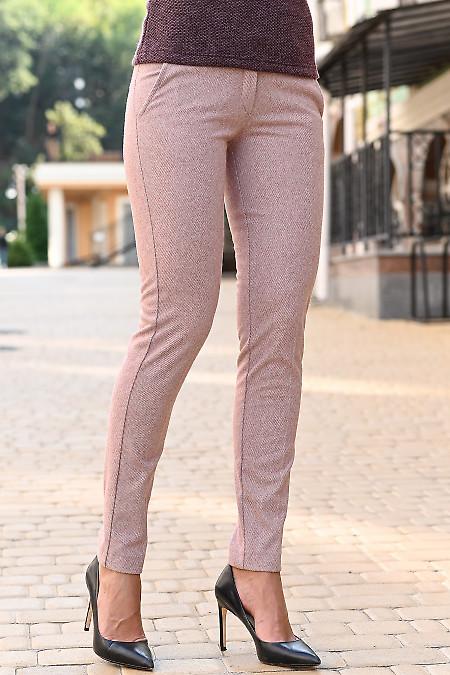 Теплые, светлые женские брюки