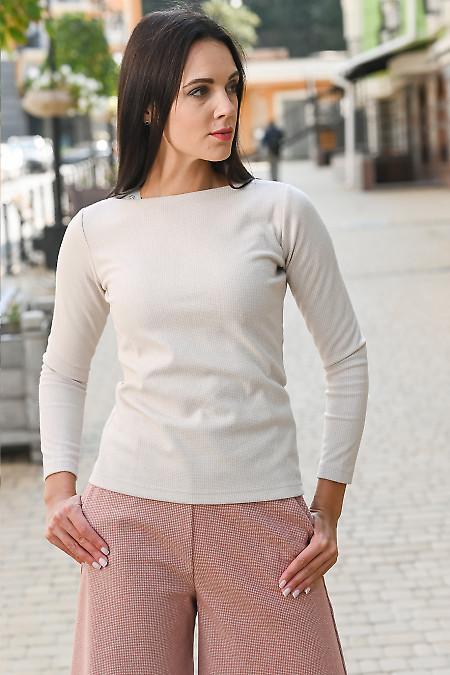 Джемпер бежевий теплий. Діловий жіночий одяг