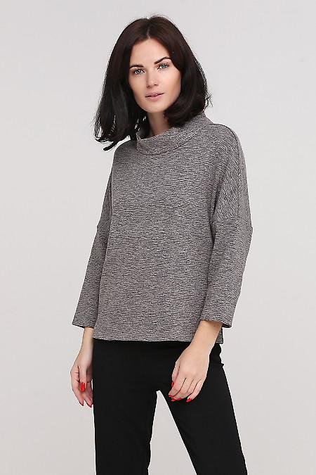 Джемпер серый теплый Деловая женская одежда фото