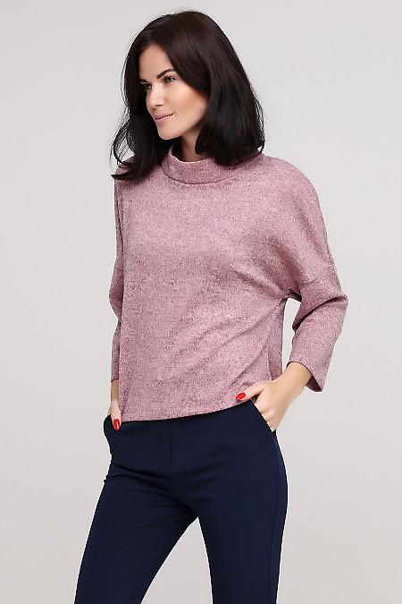 Джемпер теплый розовый Деловая женская одежда фото