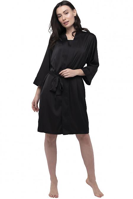 Халат женский шелковый черный. Деловая женская одежда