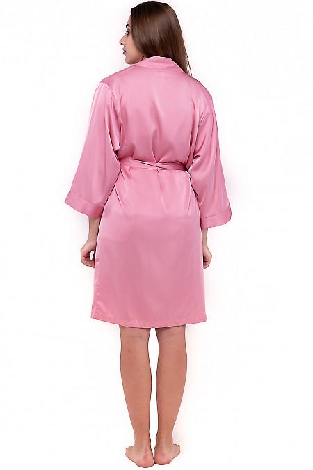 Розовый шелковый халат фото