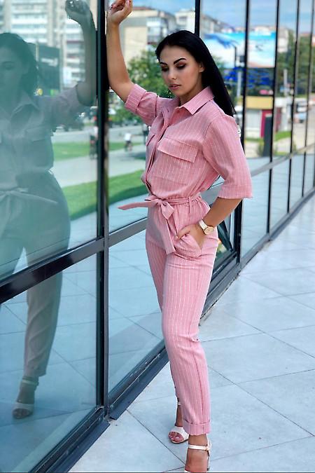 Комбинезон полосатый женский. Деловая женская одежда фото