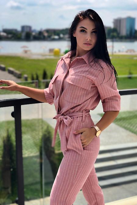 Купить полосатый комбинезон женский. Деловая женская одежда фото