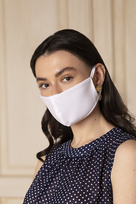Белая защитная многоразовая маска