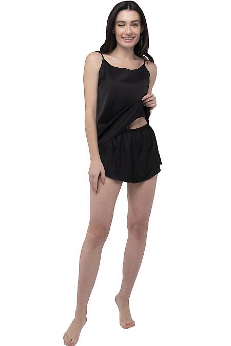 Пижама женская шелковая черная. Деловая женская одежда