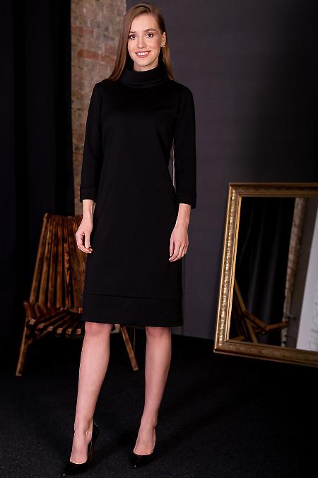 Сукня чорна з манжетом. Діловий жіночий одяг