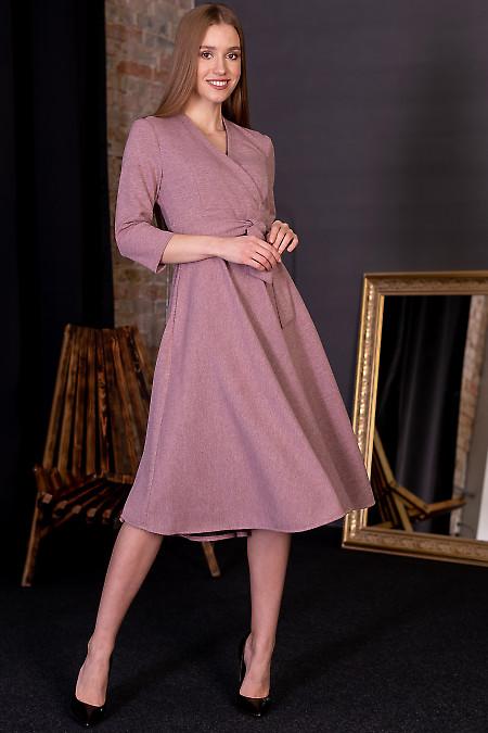 Праздничное розовое платье фото