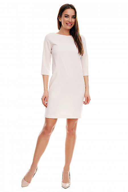 Купить короткое розовое платье. Деловая женская одежда фото