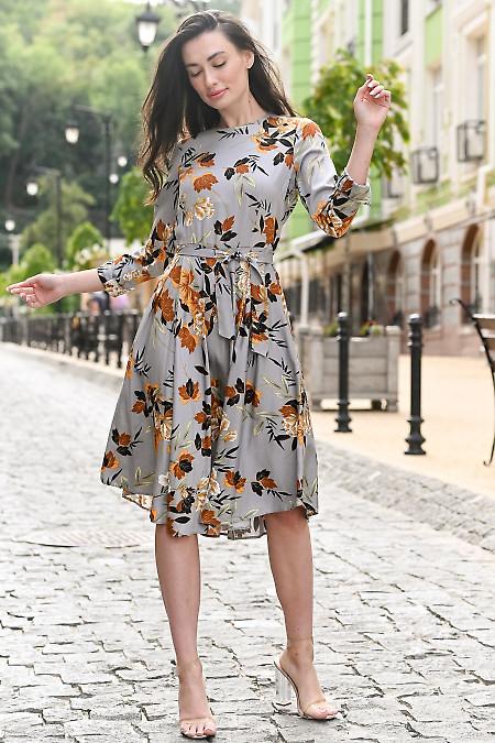 Серое женское платье фото