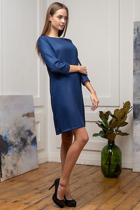 Синее нарядное платье фото