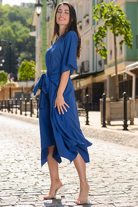 Синее платье фото