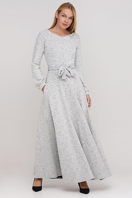 Платье трикотажное белое Деловая женская одежда фото