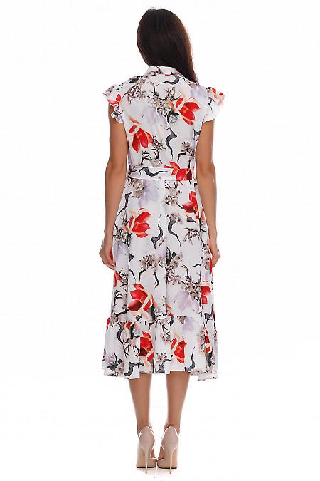 Женское платье в цветы фото
