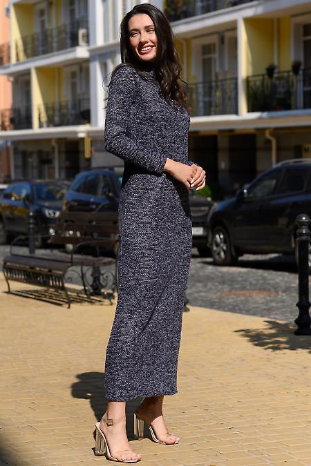Длинное осеннее женское платье фото
