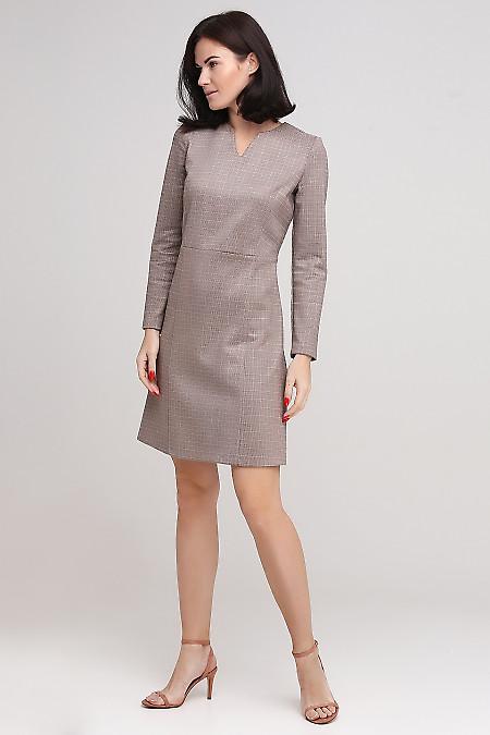 Платье замшевое в лапку Деловая женская одежда фото