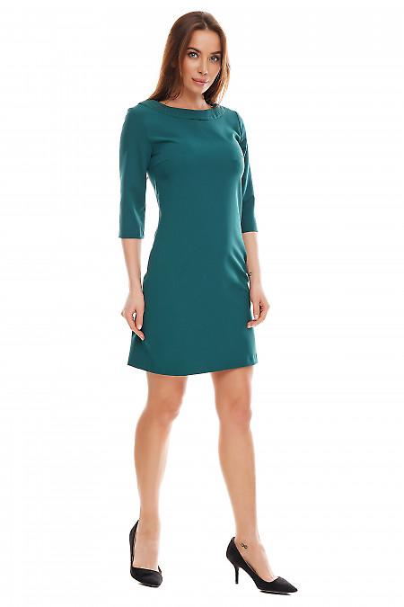 Купить платье зеленое короткое. Деловая женская одежда фото
