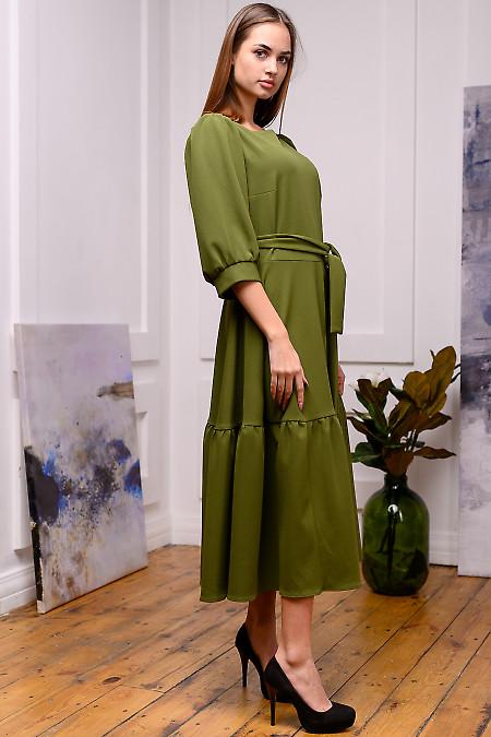 Зеленое женское платье