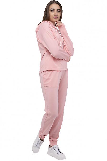 Спортивный  женский костюм с капюшоном