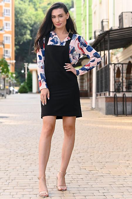 Сарафан короткий черный. Деловая женская одежда