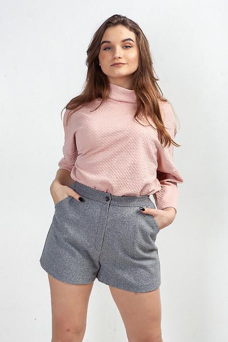Купить шорты тёплые в серую полоску. Деловая женская одежда фото