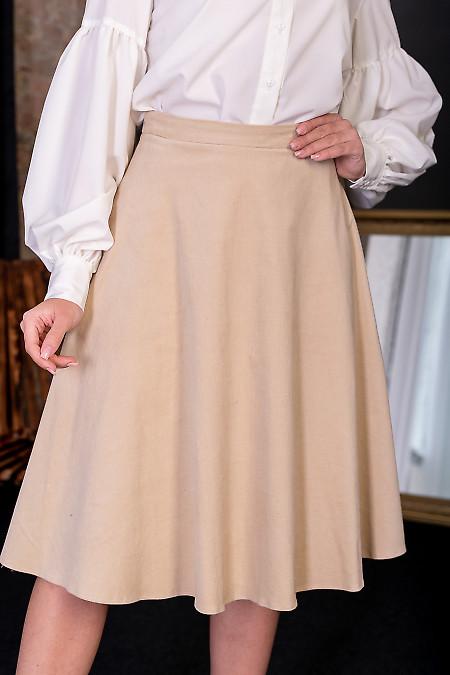 Вельветовая праздничная юбка