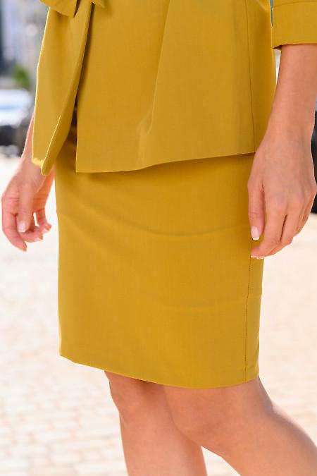 Женская юбка горчичного цвета