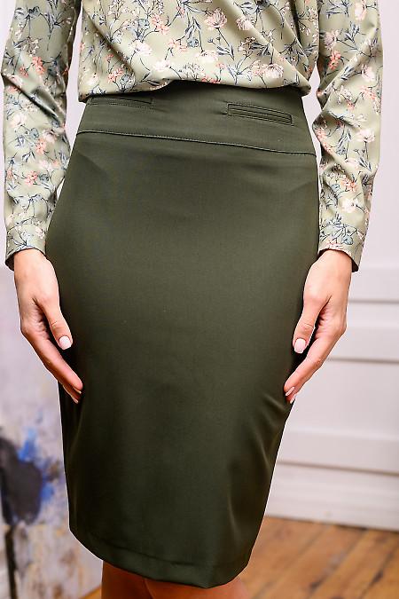 Юбка темно-зеленого цвета фото