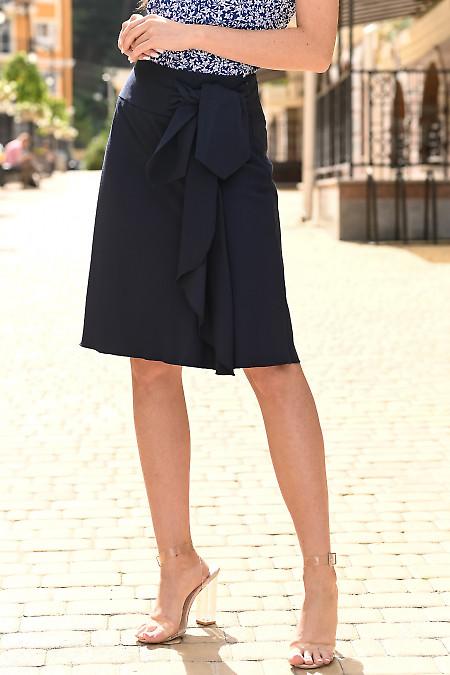 Женская темно синяя юбка фото