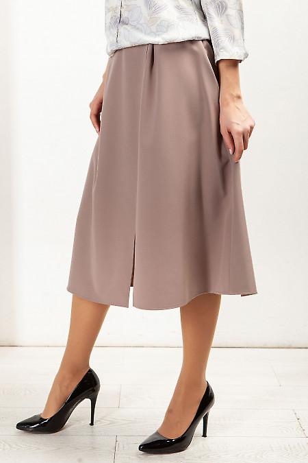 Купить юбку бежевую на запах. Деловая женская одежда фото
