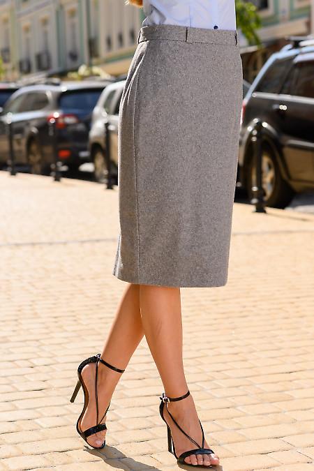Теплая женская серая юбка фото